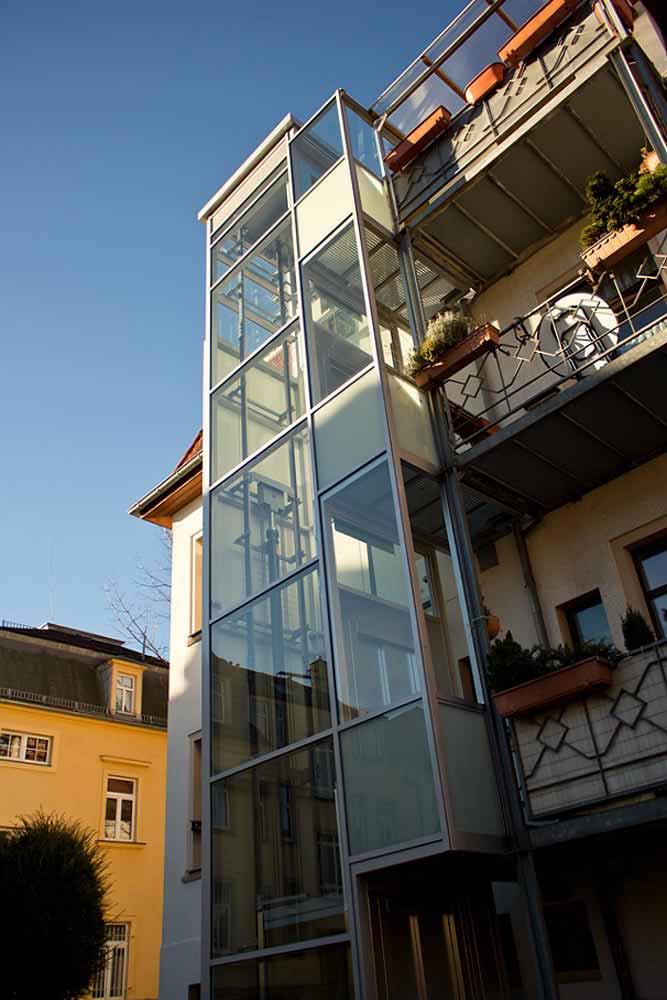 Aufzug Fassade Dresden